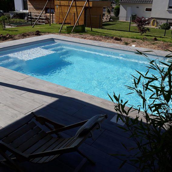 Installation de piscine coque à Obernai